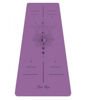 Каучуковый коврик для йоги с покрытием Non-Slip Devi Yoga 185*68*0,4 - Lunar Cycle