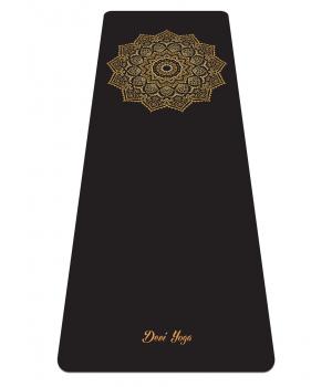 Каучуковый коврик для йоги с покрытием Non-Slip Devi Yoga 185*68*0,4 - Golden Sun