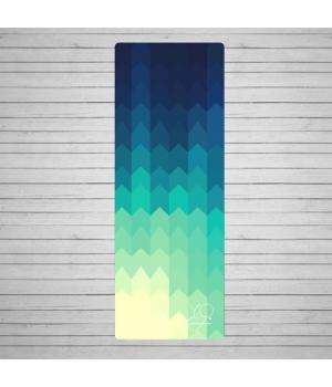 Каучуковый коврик для йоги Yoga ID America с покрытием из микрофибры