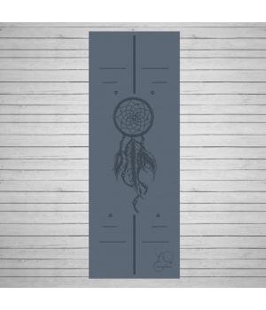 Каучуковый коврик для йоги Yoga ID Amulet Gray с покрытием Non Slip