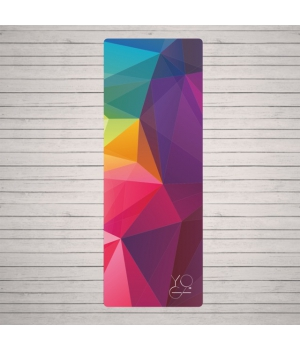 Каучуковый коврик для йоги Yoga ID Europe Soft 6мм с покрытием из микрофибры