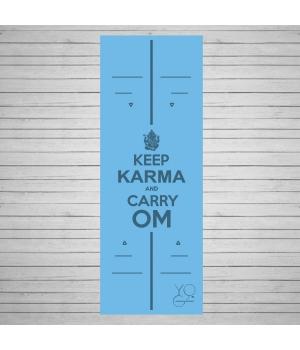 Каучуковый коврик для йоги Yoga ID Karma Blue с покрытием Non Slip