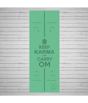 Каучуковый коврик для йоги Yoga ID Karma Green с покрытием Non Slip