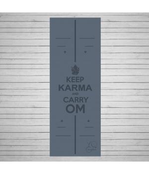 Каучуковый коврик для йоги Yoga ID Karma Grey с покрытием Non Slip