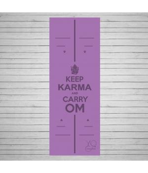 Каучуковый коврик для йоги Yoga ID Karma Purple с покрытием Non Slip