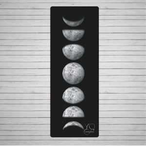 Каучуковый коврик для йоги Moon Phase с покрытием из микрофибры