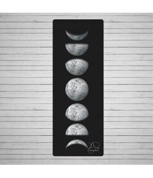 Каучуковый коврик для йоги Yoga ID Moon Phase Lite с покрытием из микрофибры