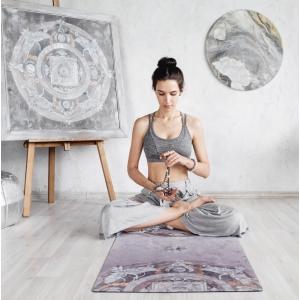 Каучуковый коврик для йоги Yoga ID Oriental Wind Limited Edition с покрытием из микрофибры