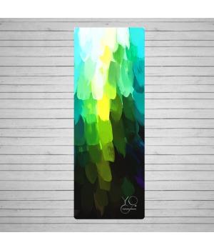 Каучуковый коврик для йоги Yoga ID Pinecone XL с покрытием из микрофибры 200см 61см 3мм