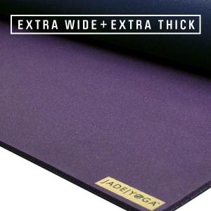 Коврик для йоги из каучука Fusion Extra Wide 203*71*0,8 см - Фиолетовый / Темно-синий