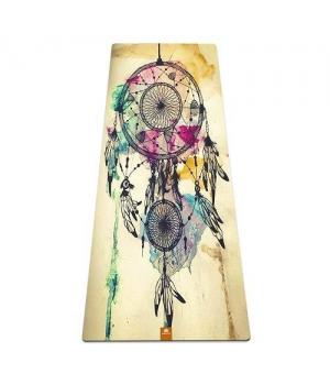 Коврик для йоги Ловец снов YM из микрофибры и каучука