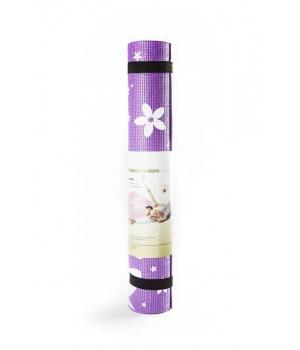Коврик для йоги Flower фиолетовый