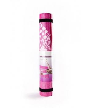 Коврик для йоги Flower розовый