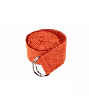 Ремень для йоги из хлопка Your Yoga 183*3,8 см оранжевый