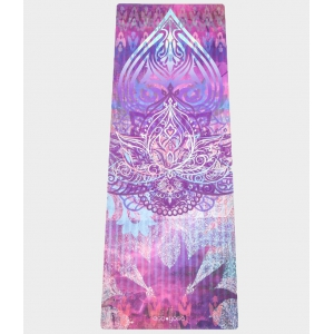 Каучуковый коврик с покрытием из микрофибры EGOyoga 183*66*0,3 см - Indian Lotus