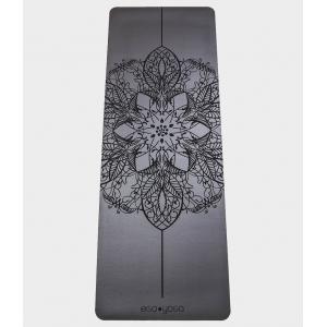 Каучуковый коврик с покрытием Non-Slip EGOyoga 185*68*0,4 см - Mandala Grey
