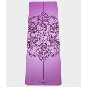 Каучуковый коврик с покрытием Non-Slip EGOyoga 185*68*0,4 см - Mandala Purple