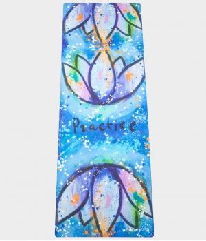 Каучуковый коврик с покрытием из микрофибры EGOyoga 183*66*0,3 см - Practice