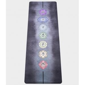 Каучуковый коврик с покрытием из микрофибры EGOyoga 183*66*0,3 см - Chakras