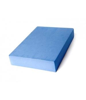 Плоский опорный блок для йоги из EVA-пены синий 30см 20см 5 см