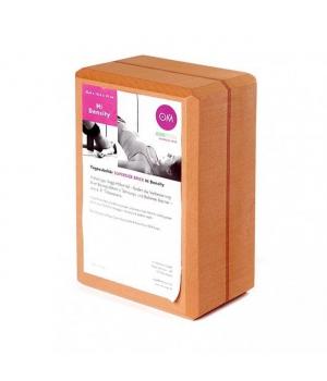 Кирпич для йоги из EVA-пены extra size оранжевый 23см 15см 10см