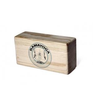 Кирпич для йоги из шлифованной сосны с логотипом 23см 11см 8см