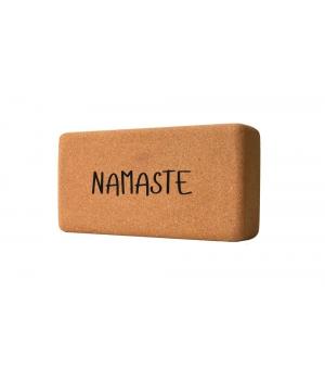 """Кирпич для йоги пробковый YC """"Namaste"""" 23см 12см 7см"""