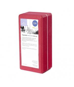 Кирпич для йоги из EVA-пены Yoga brick красный 22см 11см 7см