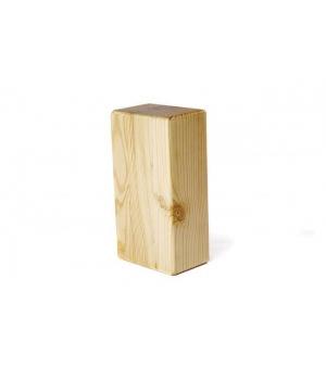 Лакированный кирпич для йоги из сосны натуральный 23см 12см 8см