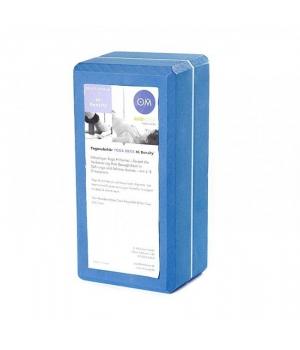 Кирпич для йоги из EVA-пены Yoga brick синий 22см 11см 7см