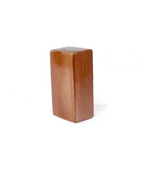 Лакированный кирпич для йоги из сосны темно-коричневый 23см 12см 8см