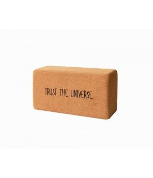 """Кирпич для йоги пробковый YC """" Trust the Universe"""" 23см 12см 7см"""