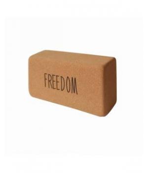 """Кирпич для йоги пробковый YC """"Freedom """" 23см 12см 7см"""