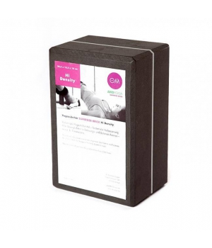 Кирпич для йоги из EVA-пены extra size серый 23см 15см 10см