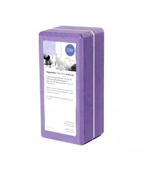 Кирпич для йоги из EVA-пены Yoga brick фиолетовый 22см 11см 7см