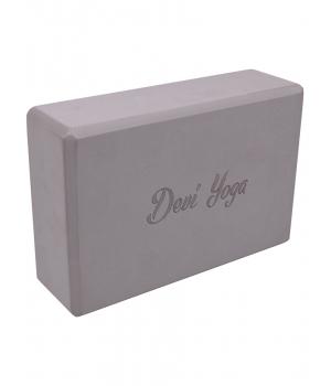 Блок для йоги из EVA Devi Yoga 23*15*7,5 см - Серый