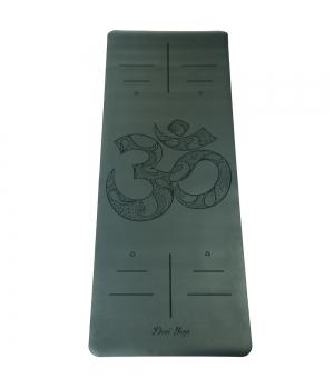 Каучуковый коврик с покрытием Non-Slip Devi Yoga 185*68*0,4 - OM (черный)
