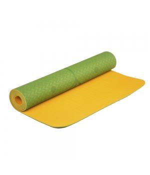 Коврик для йоги Devi Yoga Fruits из ТПЕ с разметкой 183*61*0,5 см - Апельсин