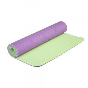 Коврик для йоги Devi Yoga Fruits из ТПЕ с разметкой 183*61*0,5 см - Инжир