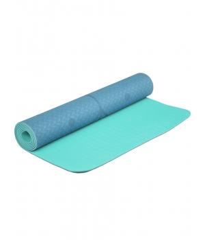 Коврик для йоги Devi Yoga Fruits из ТПЕ с разметкой 183*61*0,5 см - Жимолость