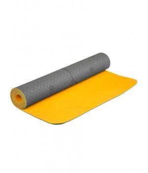 Коврик для йоги Devi Yoga Fruits из ТПЕ с разметкой 183*61*0,5 см - Маракуйя