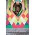 Каучуковый коврик с микрофиброй Devi Yoga 183*61*0,35 см - Геометрия