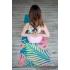 Каучуковый коврик с микрофиброй Devi Yoga 183*61*0,35 см - Тропический