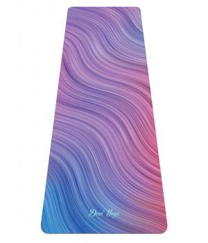 Каучуковый коврик с микрофиброй Devi Yoga 183*61*0,35 см - Волны