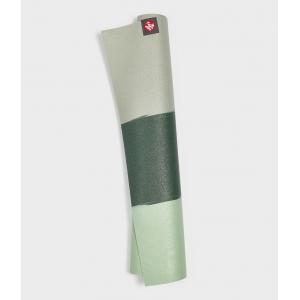 Каучуковый коврик для йоги Manduka eKO Superlite 180*61*0,15 см - Green Ash Stripe (Limited Edition)
