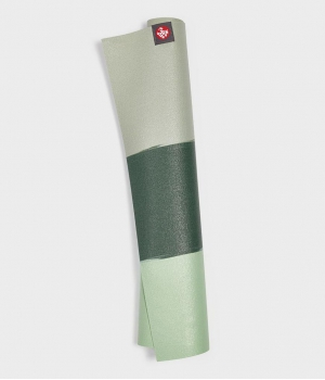 Каучуковый коврик для йоги Manduka eKO Superlite 180*61*0,15 см - Green Ash Stripe (Limited Edition)