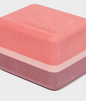 Блок для йоги Manduka Recycled Foam Yoga Mini Block 10*11,5*15 см - Clay