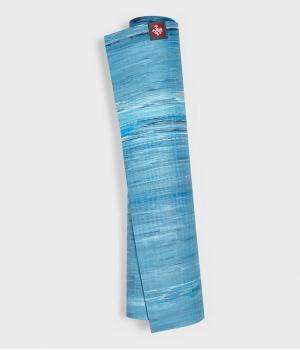 Каучуковый коврик для йоги Manduka eKO lite 180*61*0,4 см - Dresden Blue Marbled (Limited Edition)