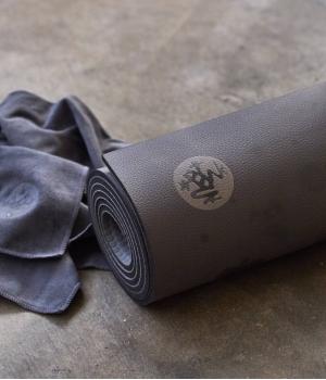 Каучуковый коврик для йоги Manduka GRP 180*66*0,6 см - Steel Gray