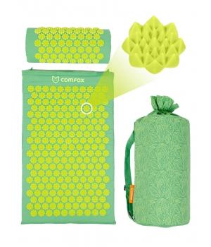 Набор: массажный коврик и валик Comfox - Зеленый